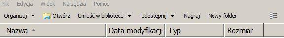Zmiana typu folderu